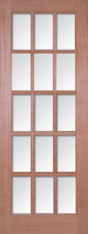 SA 15L Hardwood Clear Bevelled Glass