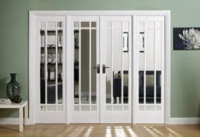White Manhattan W8 Room Divider Set