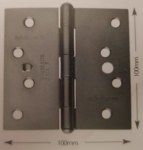 100mm Fixed Pin Strong Butt Hinge Pairs