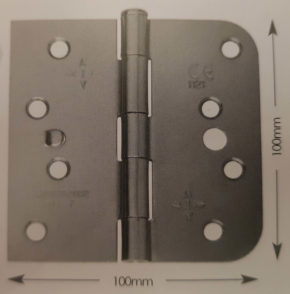 100mm 1 Leaf Radiused Loose Pin Strong Butt Hinge Pairs