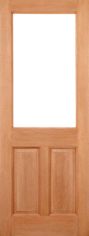 2XG 2 Panel M&T Hardwood Clear Double Glazed
