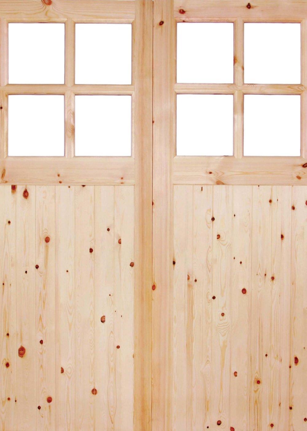 Redwood Framed Ledged and Braced 301 Unglazed Garage Door - Trading ...