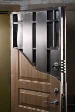 Steel door construction