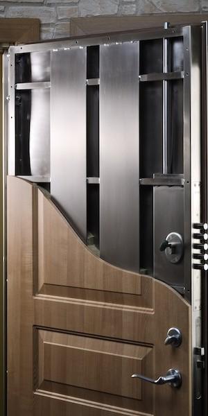 Steel door construction