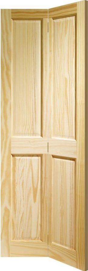 Victorian 4 Panel Clear Pine Bi-Fold