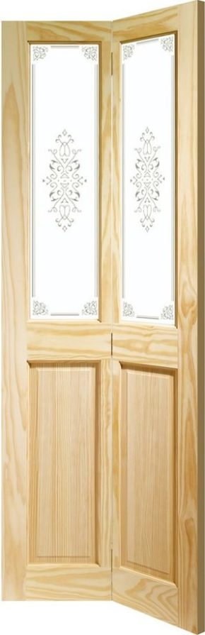 Victorian Pine Campion Clear Glass Bi-fold