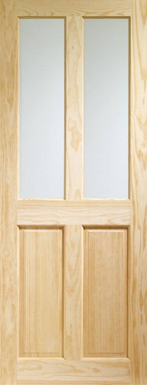 Victorian Clear Glass Clear Pine