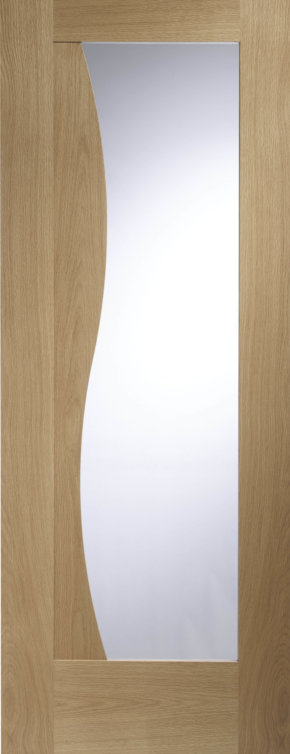 Emilia Unfinished Oak Clear Glass