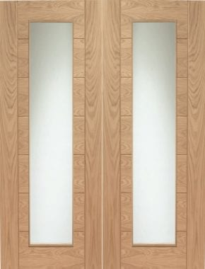 Palermo Oak Pair Unfinished Clear Glass
