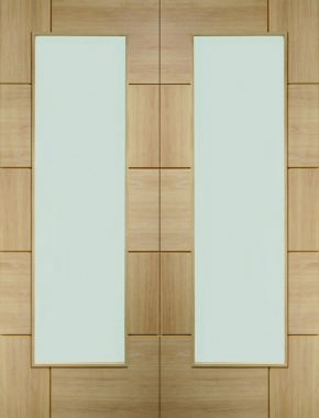 Ravenna Oak Pair Unfinished Clear Glass