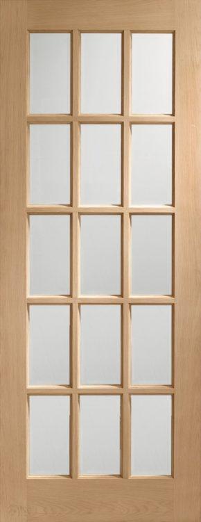 SA77 Oak Clear Glass