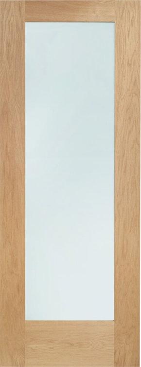 Pattern 10 Unfinished Oak Clear Glass