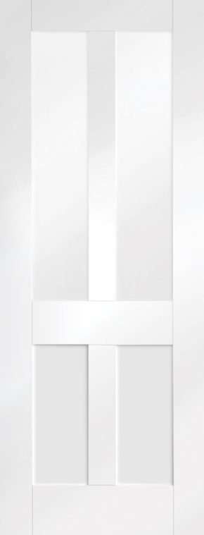 Malton Shaker Clear Glass White Primed