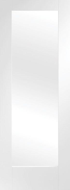 Pattern 10 Shaker Obscure Glass White Primed