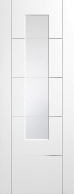 Portici Pre-finished White Clear Etched Glass