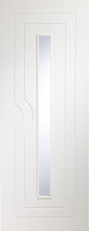 Potenza Pre-finished White Clear Glass