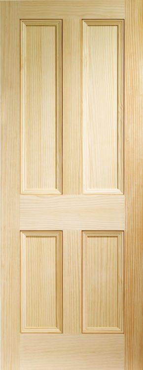 Edwardian 4 Panel Vertical Grain Pine
