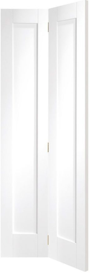 Pattern 10 Shaker White Primed Bi-Fold