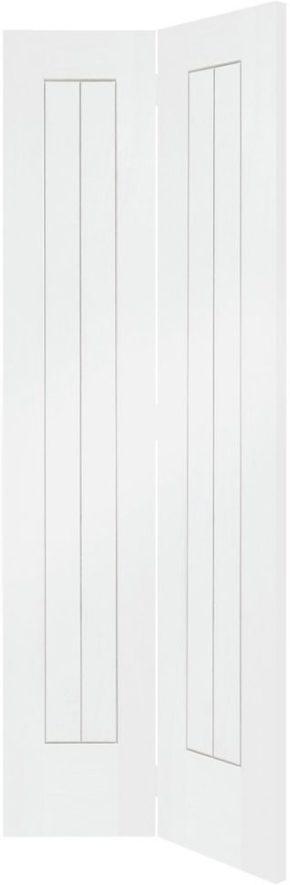 Suffolk White Primed Bi-Fold