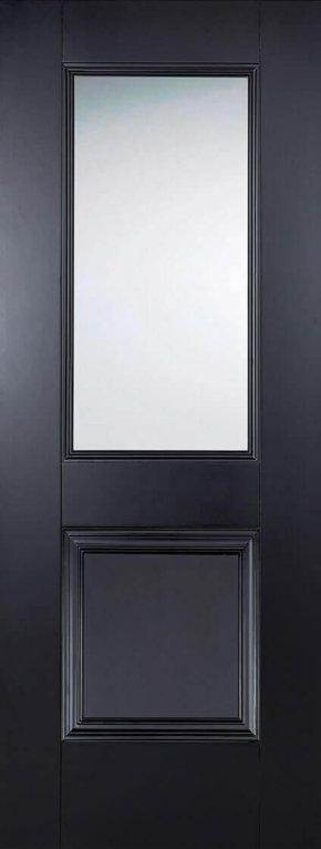 Arnhem 1 Panel 1 Light Glazed Black Primed
