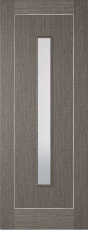Chocolate Grey Inlay 1 Panel 1 Light Glazed Internal Door
