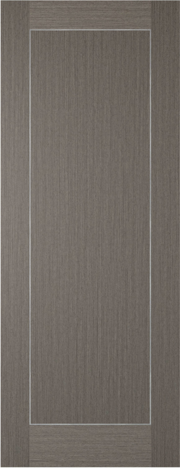 Chocolate Grey Inlay 1 Panel Internal Door