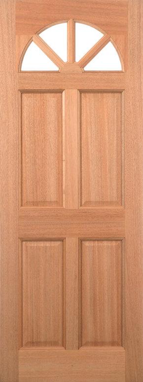 Carolina 4 Panel M&T Hardwood Door