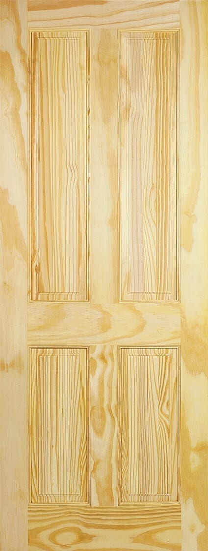 Clear Pine 4 Panel Trading Doors