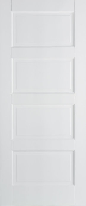 Contemporary White Primed 4 Panel