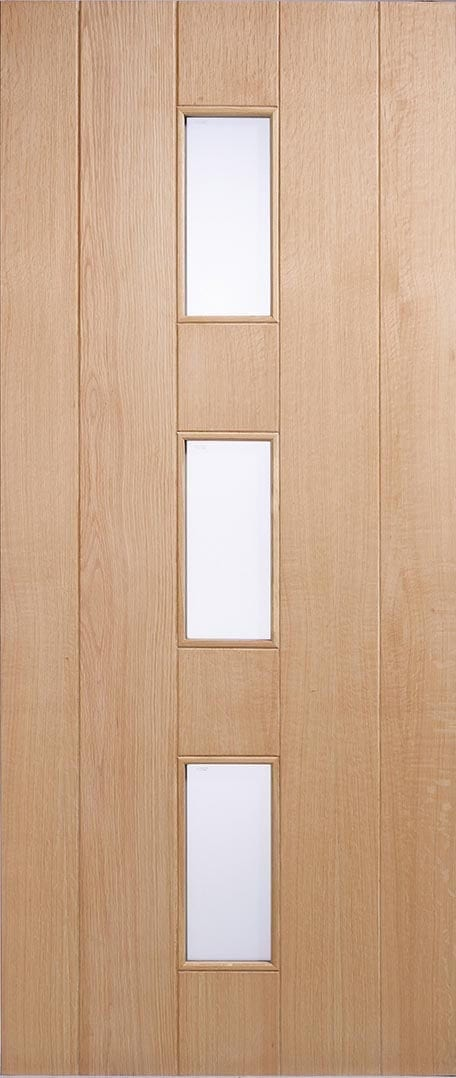 Copenhagen Oak Frosted Glass Trading Doors
