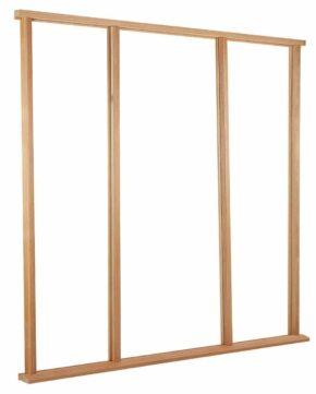 Hardwood Vestibule Sidelight Universal Size Door Frame