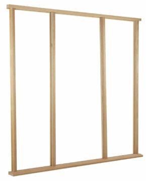 Oak Type Vestibule Sidelight Universal Size Door Frame