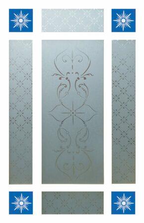 9 Piece Glass Pack for Downham Doors