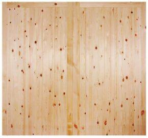 Redwood Framed Ledged and Braced Garage Door
