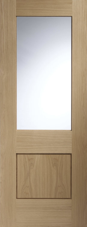Piacenza Unfinished Oak with Clear Glass