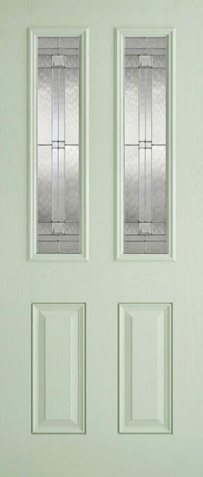 Malton Green and White Glazed