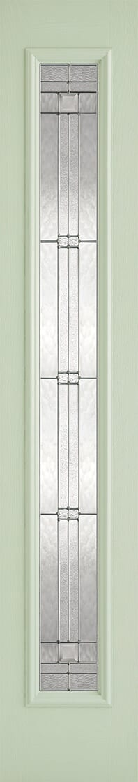 Elegant Green and White Sidelight