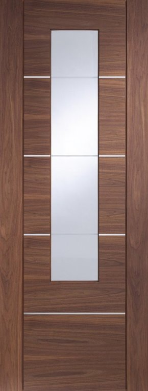 Portici Walnut with Clear Etched Glass