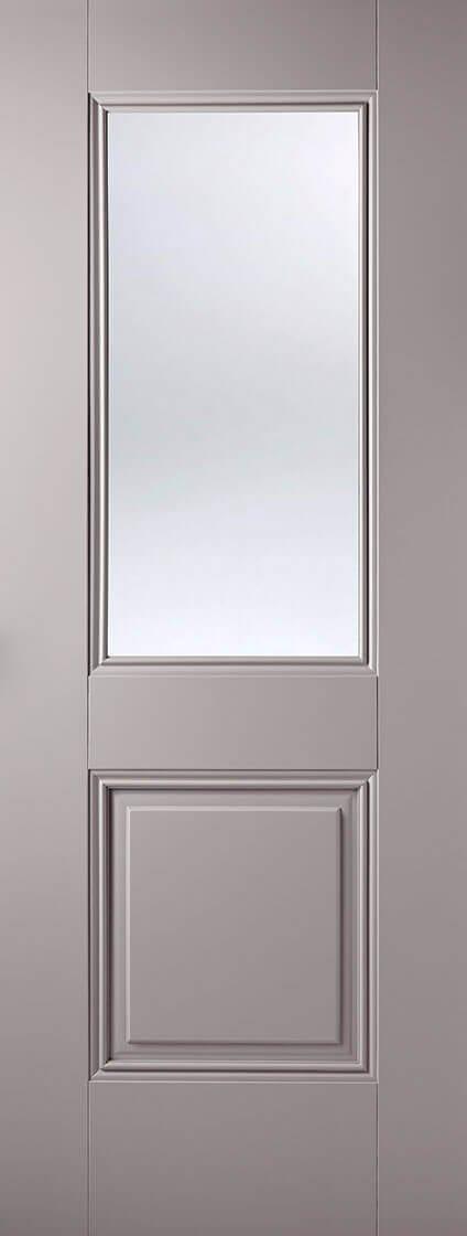 Arnhem 1 panel 1 light glazed Grey primed