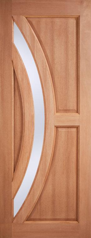 Harrow Frosted Glazed Hardwood Door