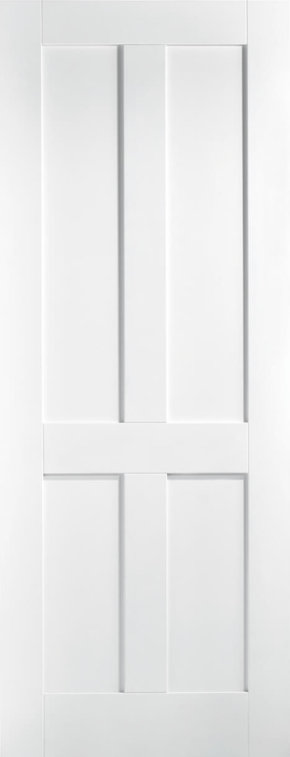 London 4 Panel White Primed Shaker