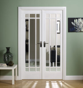 Manhattan White Room Divider Set 4'