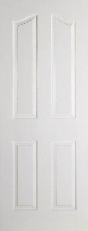 Mayfair 4 Panel Shaped Top White Moulded