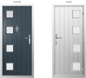 Milano Glazed Composite Doorset