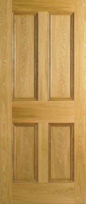 Oak 4 Panel Flat Panel