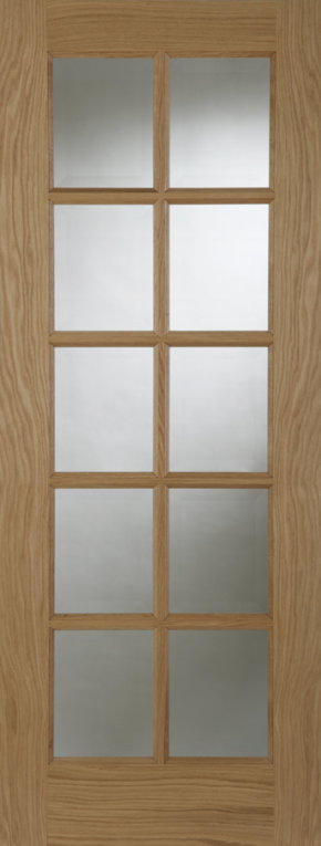SA Oak 10 Light With Clear Glass