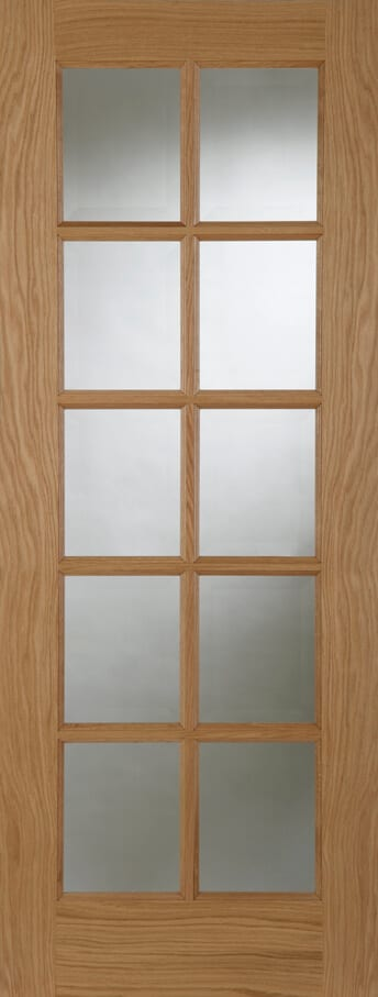 Sa oak 10 light with clear glass trading doors for 10 light door