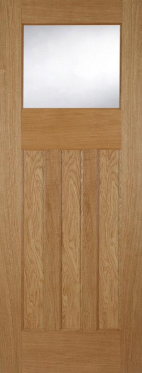 DX30 Oak 3 Panel 1 Light