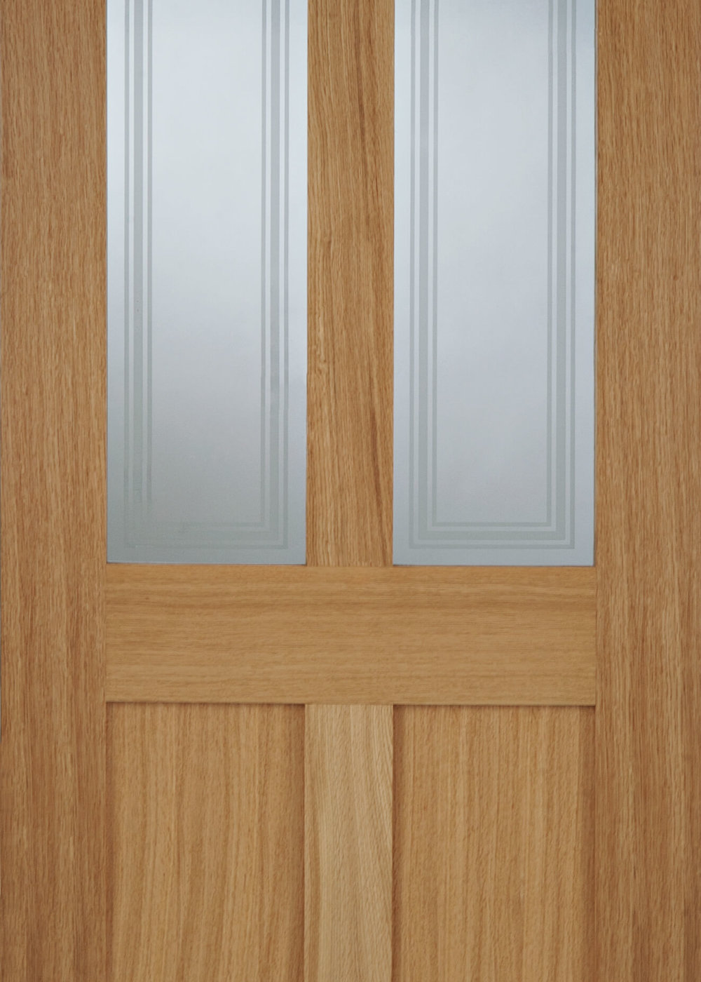Oak bristol 2 light panel glazed door trading doors for Door with light