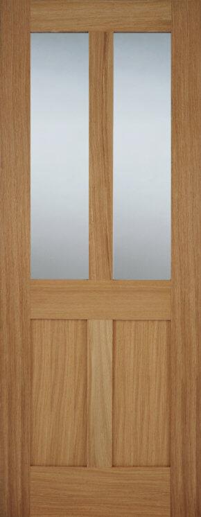 Oak Bristol 2 Light Panel Glazed Door